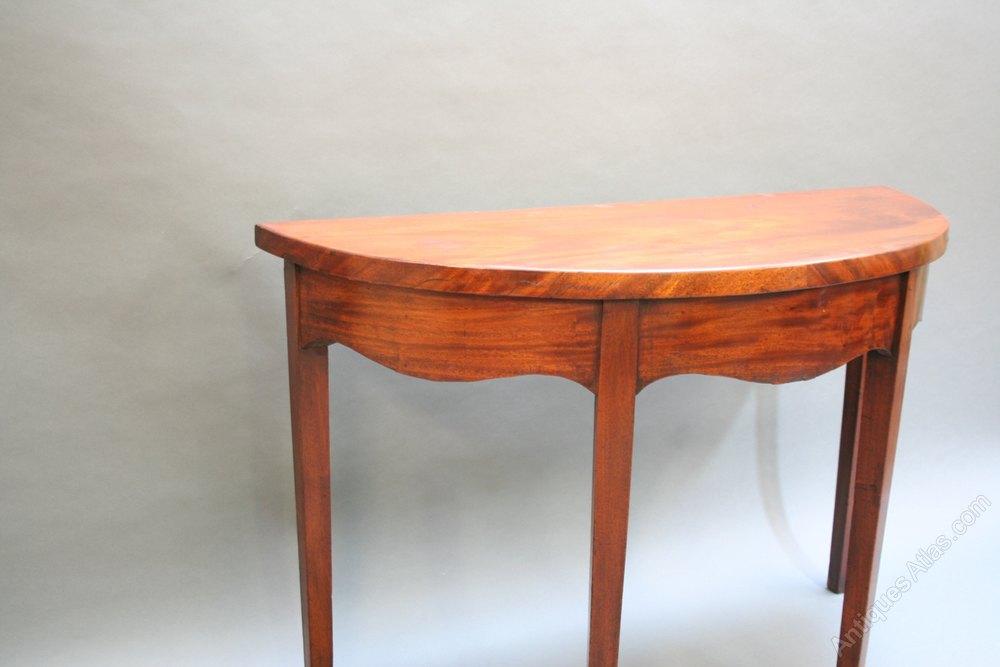 georgian mahogany hall console table antiques atlas