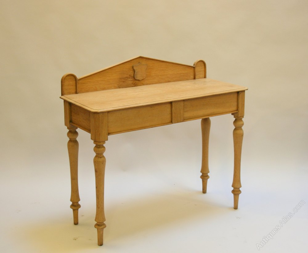 Victorian Foyer Table : Victorian oak hall table antiques atlas