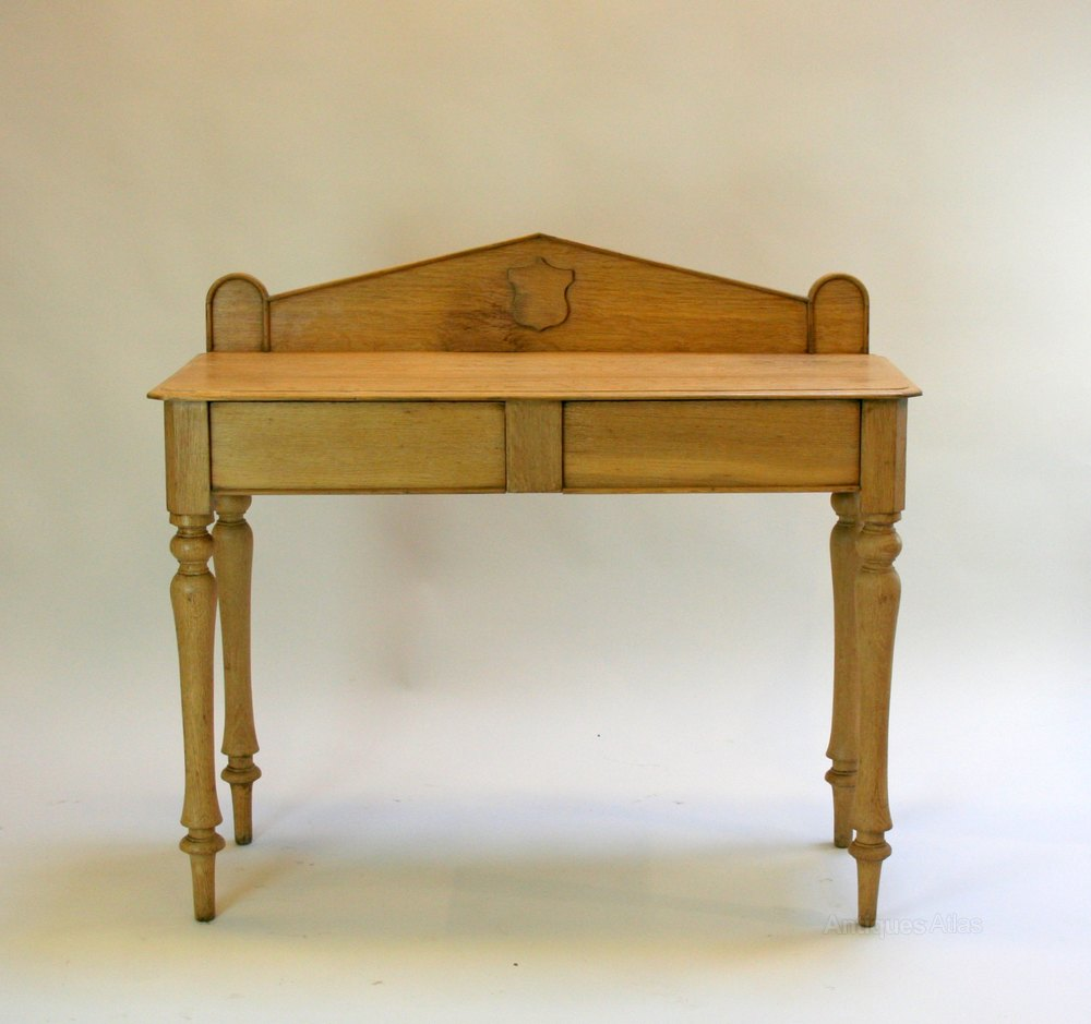 Victorian oak hall table antiques atlas