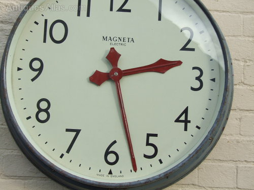 Antiques Atlas Large Industrial Factory Wall Clock