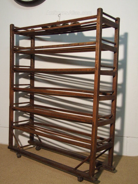Vintage Factory Shoe Rack For Sale