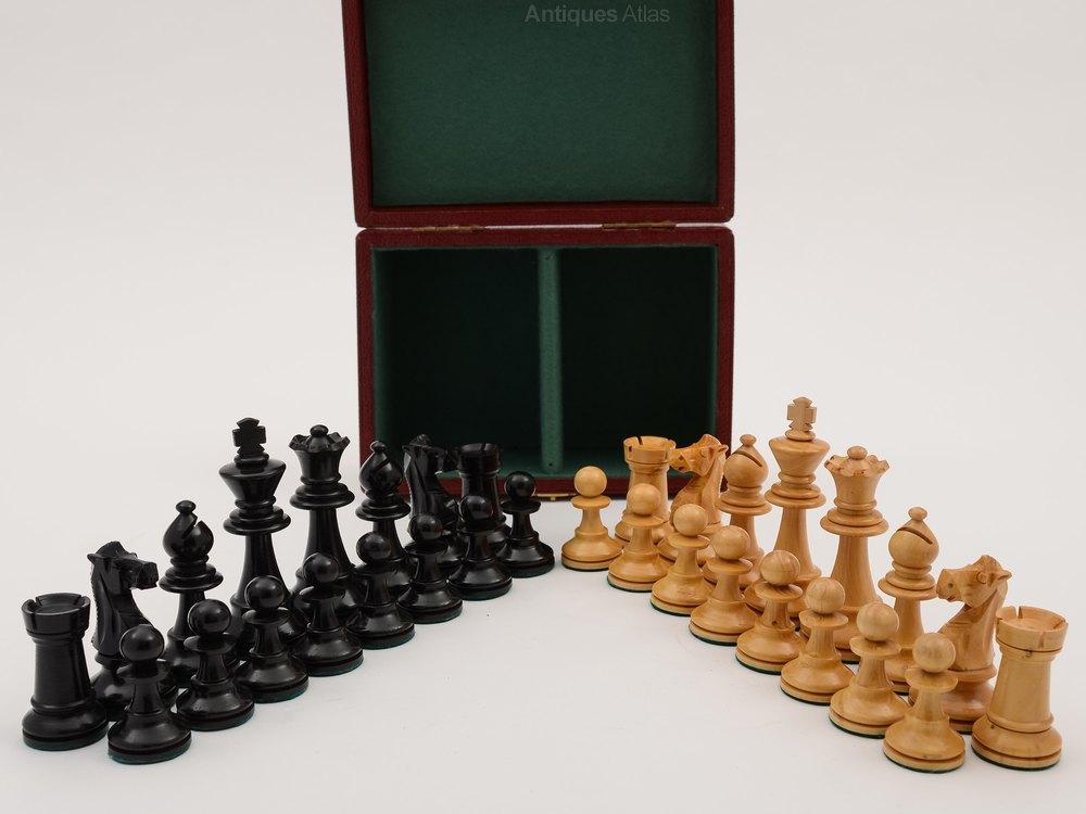 Antiques Atlas Boxed Staunton Style Chess Set Circa 1920
