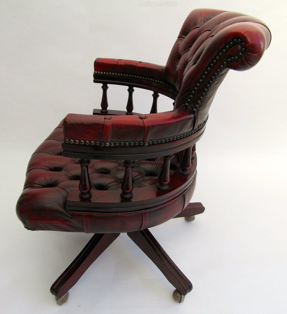 Antiques Atlas Chesterfield Swivel Captains Chair