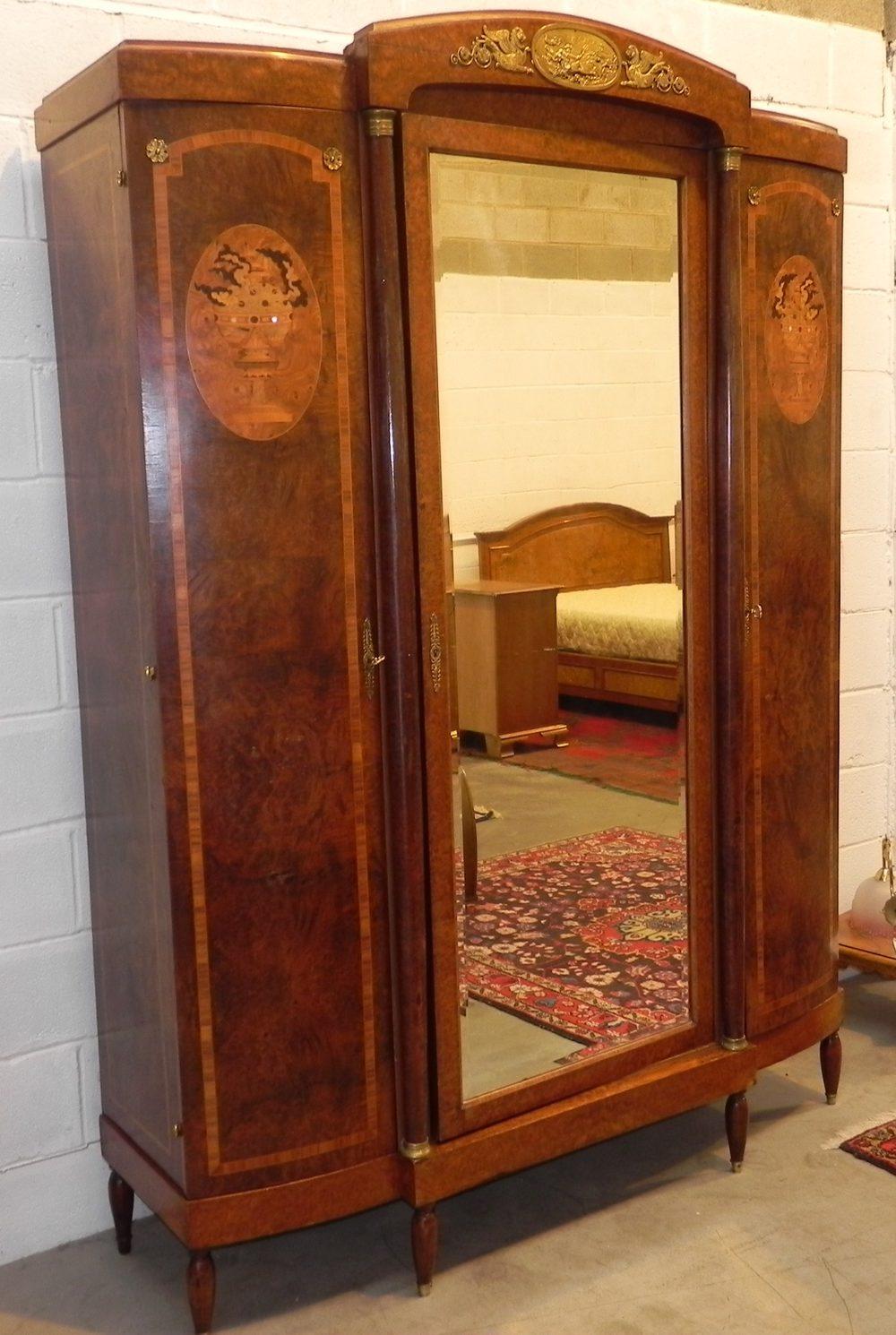 Antique Burr Walnut Armoire Wardrobe Antiques Atlas
