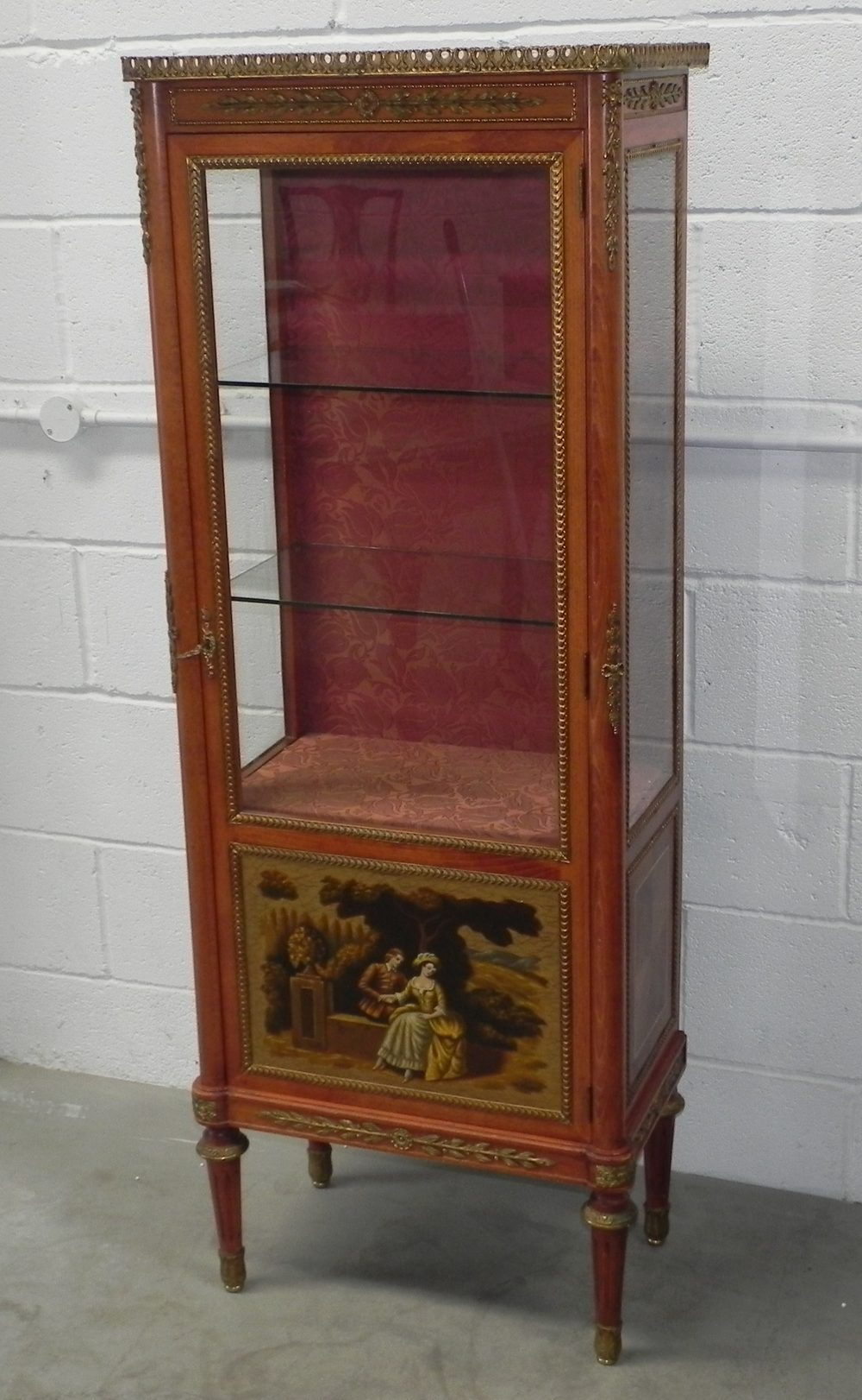 Louis xvi vitrine display cabinet vernis martin for Sideboard vitrine