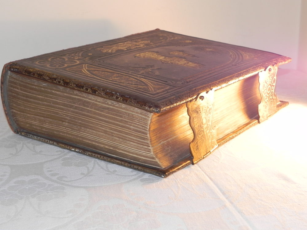Old Book Covers For Sale : Antiques atlas rare victorian leather holy family bible