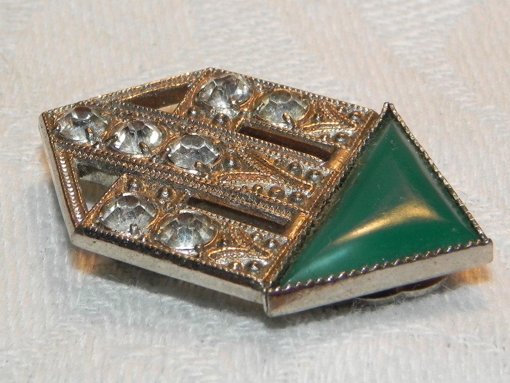 antiques atlas vintage art deco dress cape clip brooch pin. Black Bedroom Furniture Sets. Home Design Ideas