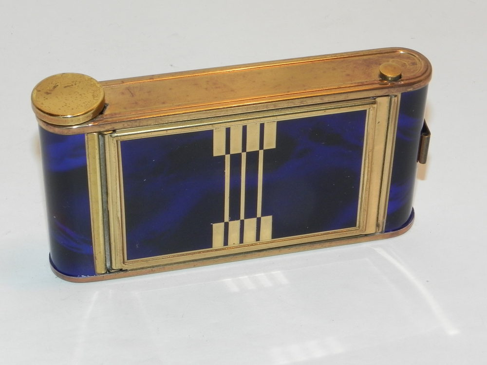 Antiques Atlas Vintage Art Deco Enamel Camera Powder Compact