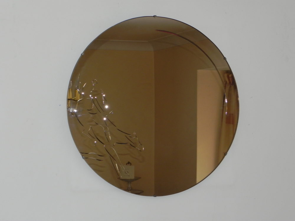 Antiques Atlas Vintage Art Deco Rose Pink Wall Mirror
