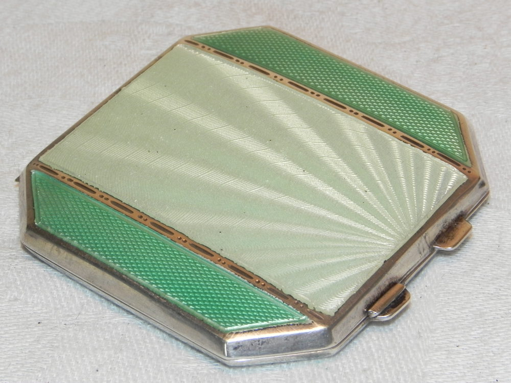 Antiques Atlas Vintage Art Deco Silver Guilloche Enamel