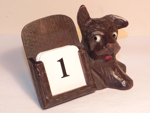 Perpetual Calendar Art Deco : Antiques atlas vintage art deco wooden dog perpetual