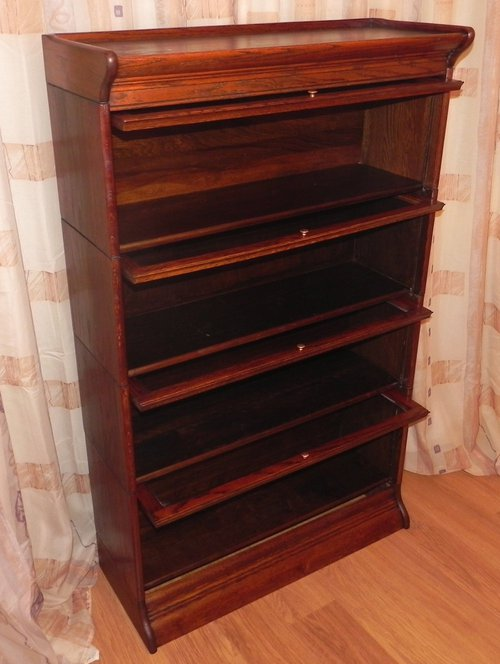 glass fronted bookcase 3