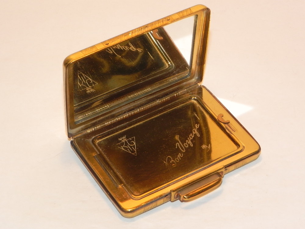 Antiques Atlas Vintage Kigu Suitcase 1950s Novelty Powder Compact