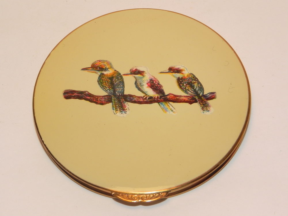 Antiques Atlas Vintage Stratton Kookaburra Powder Compact