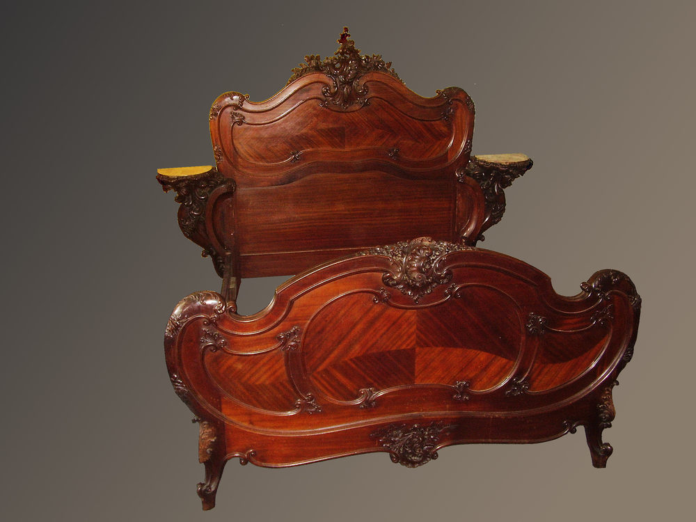 Ornate carved italian bed antiques atlas