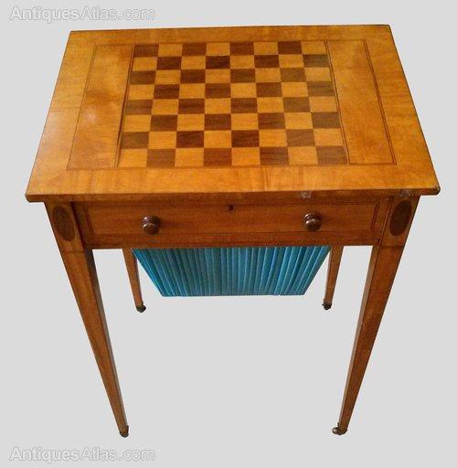 Wonderful Satinwood Chess Table.