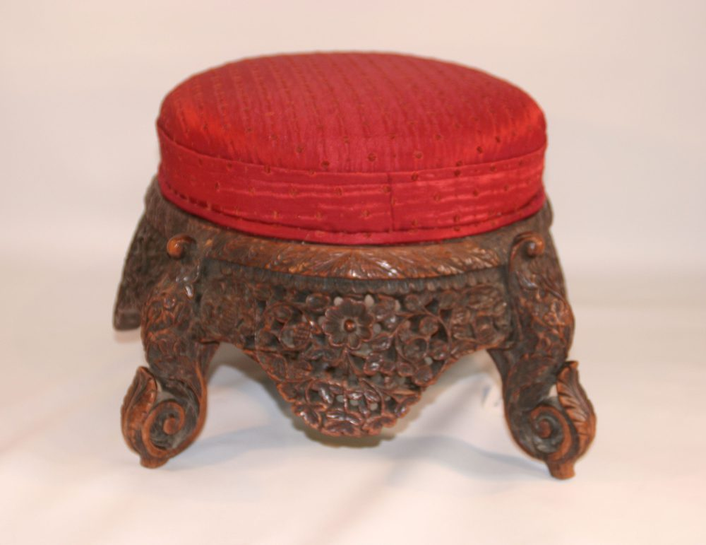 Anglo Indian Colonial Foot Stool Antiques Atlas