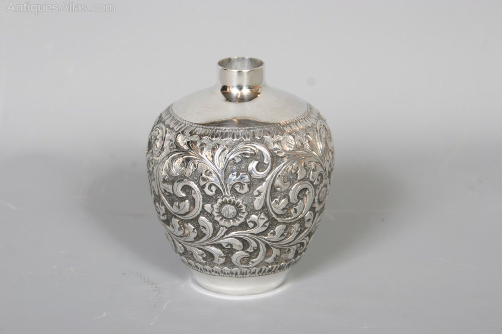 antiques atlas anglo indian kutch silver vase