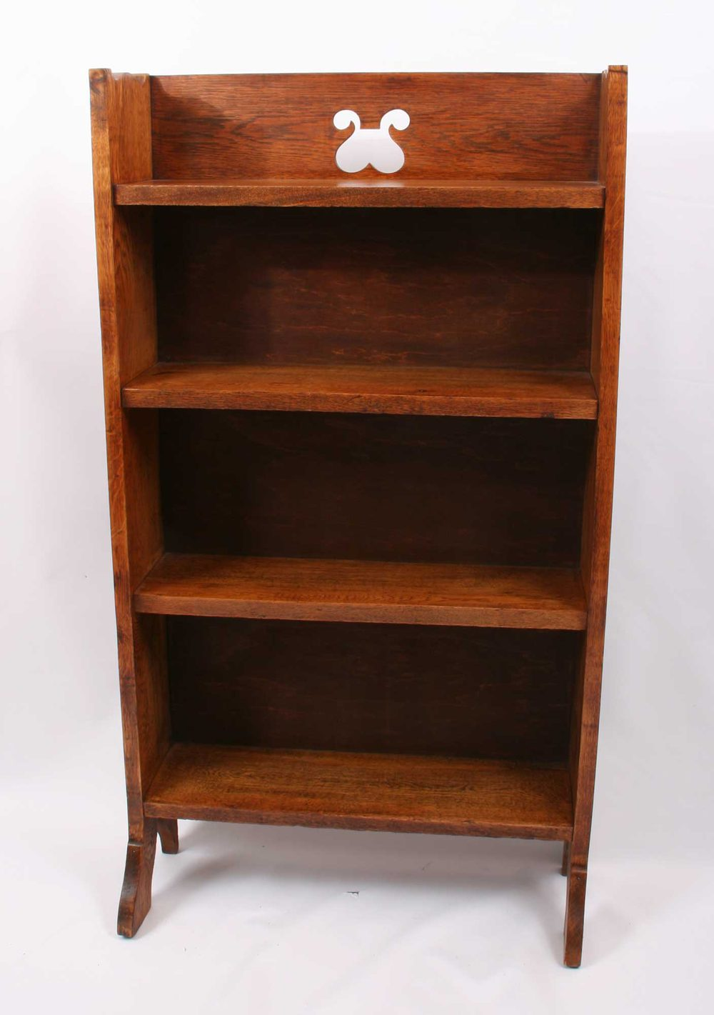 Arts crafts oak bookcase antiques atlas for Arts and crafts bookshelf