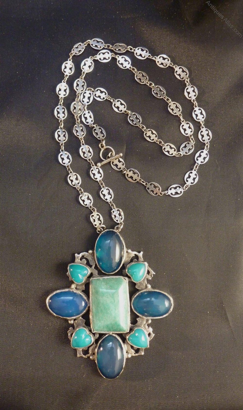 Antiques Atlas Amy Sandheim Arts And Crafts Cabochon Necklace