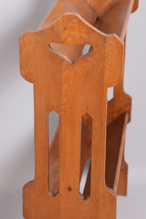 Arts And Crafts Style Oak Book Stand