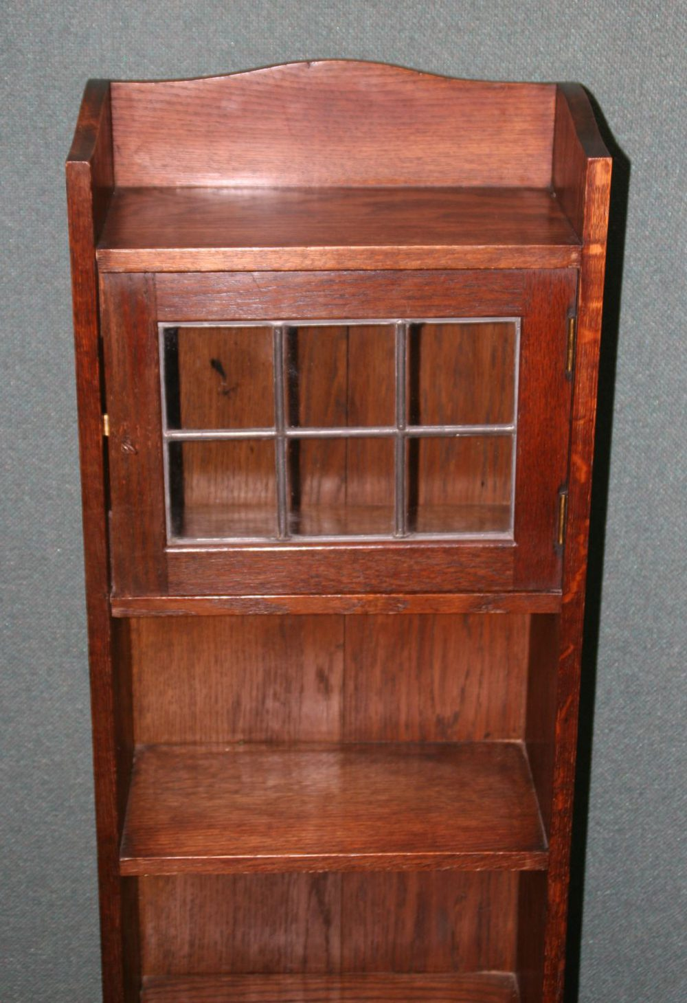 liberty arts and crafts oak caxton glazed bookcase. Black Bedroom Furniture Sets. Home Design Ideas