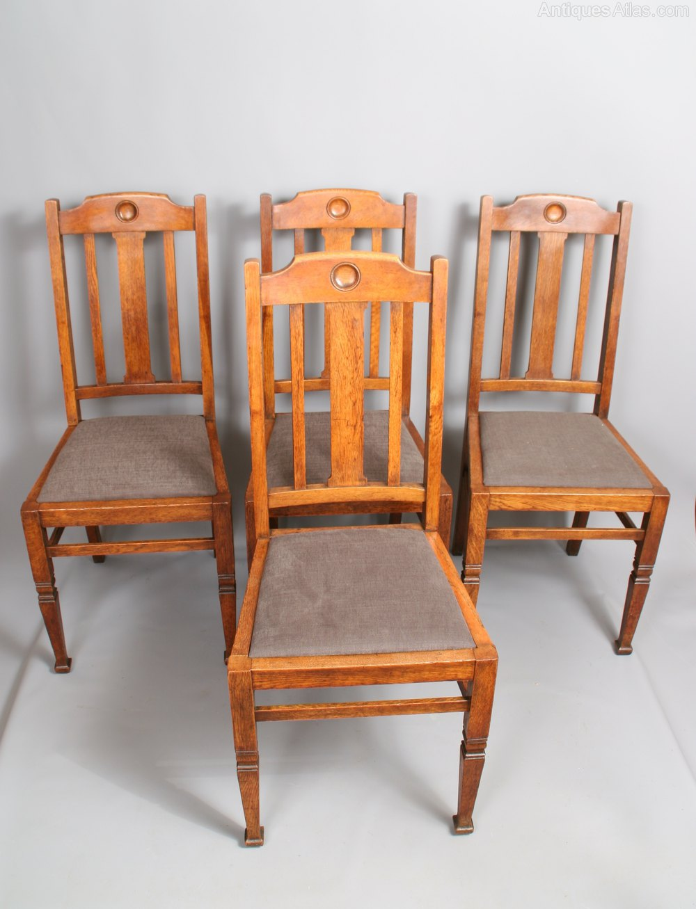 Set Of 6 Shapland Amp Petter Oak Dining Chairs Antiques Atlas