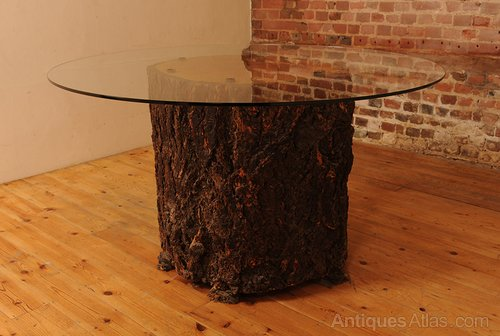Antiques Atlas Glass Topped Feature Tree Trunk Dining