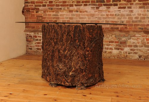 Antiques Atlas Glass Topped Feature Tree Trunk Dining  : Glasstoppedfeaturetreetrunas704a012b 3 from www.antiques-atlas.com size 500 x 344 jpeg 46kB