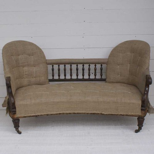 Antique Sofa Loveseat: Antique French Double End Sofa/Loveseat