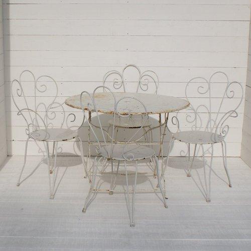 Antique French Garden Furniture Set ...