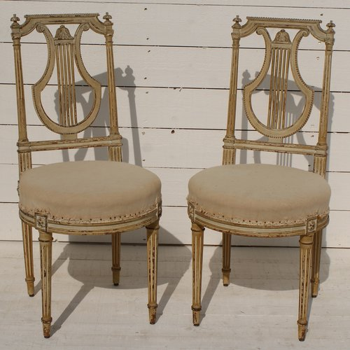 Pair Of Antique French Chairs ... - Pair Of Antique French Chairs - Antiques Atlas