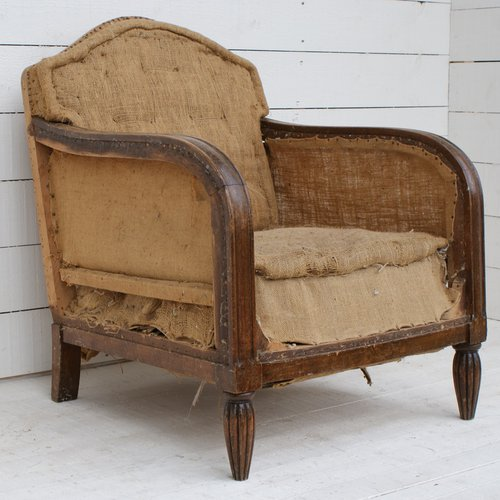 ... Antique Club Chairs ... - Pair Of 1920's Club Chairs - Upholstery Inc - Antiques Atlas