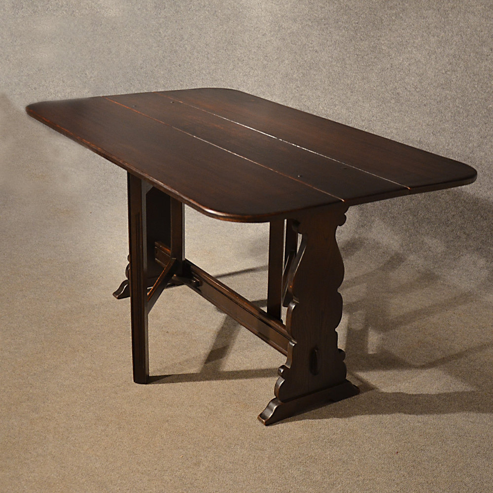 Antique 5 39 Oak Kitchen Dining Table Narrow Drop Antiques