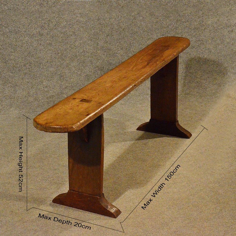 Pew Bench Seating Kitchen Ct: Antique 5' Pine Kitchen Bench Pew Long Seat