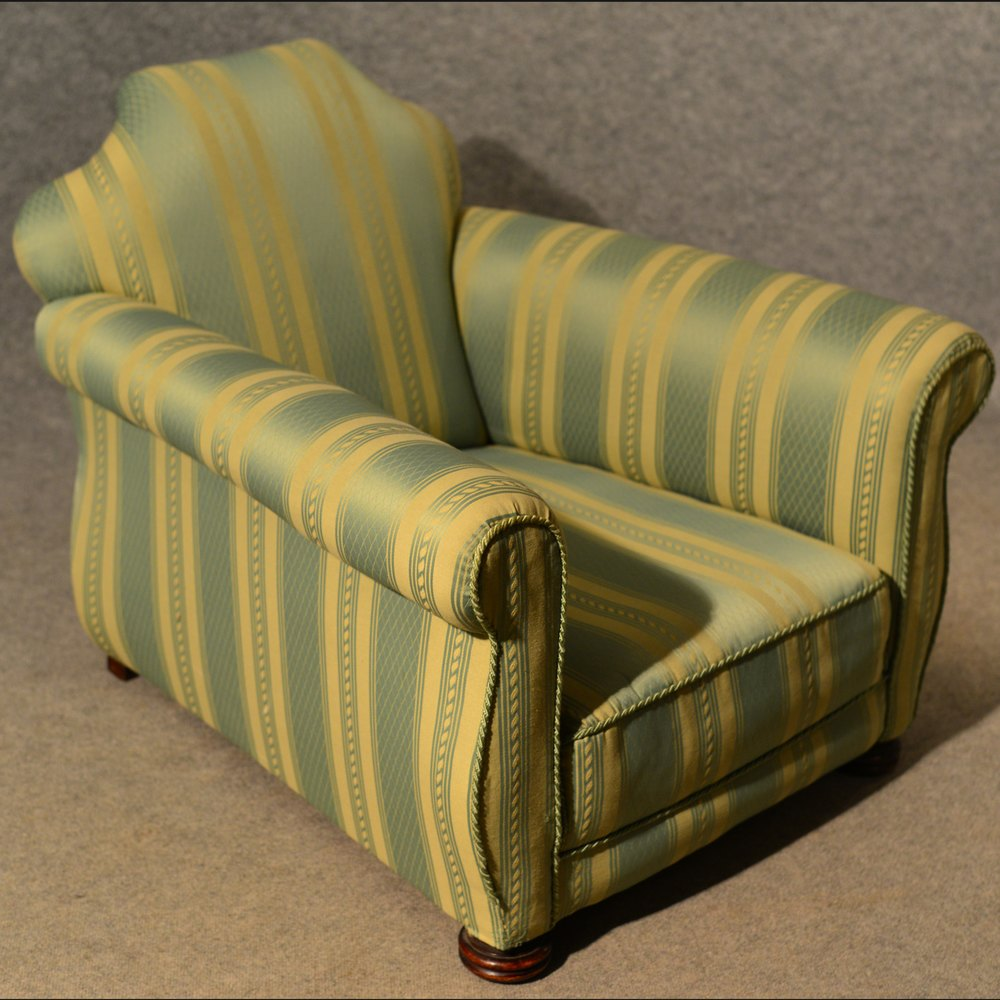 Antique Armchair Club Long Deep Seat Lounge Easy Chairs