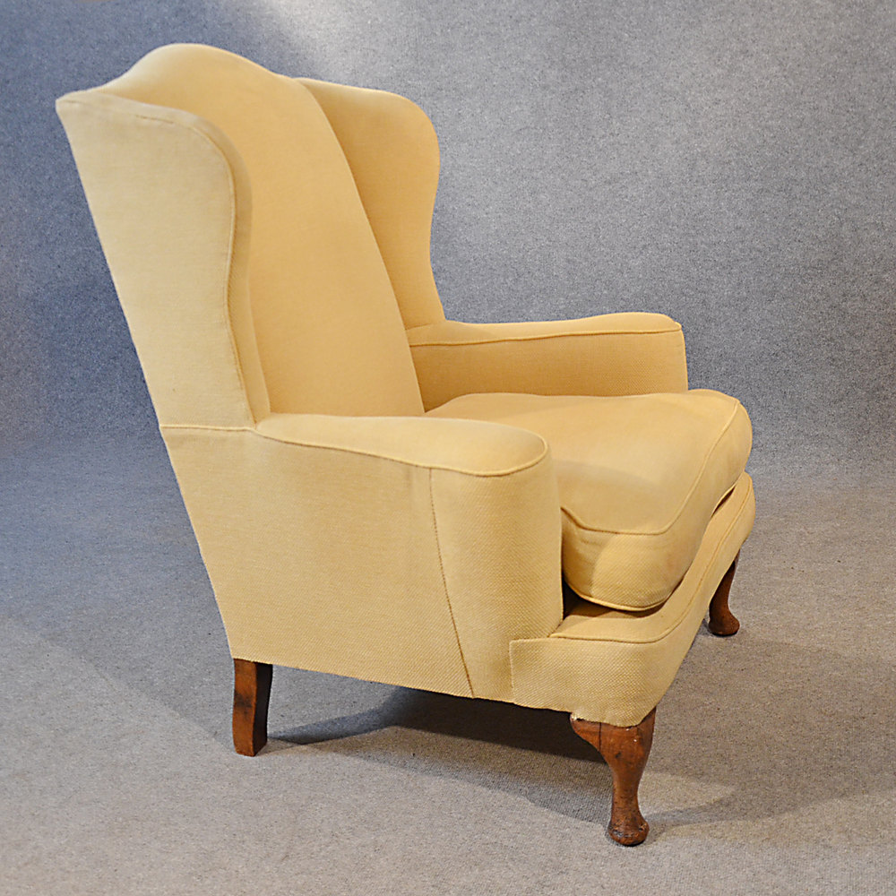 Antique armchair wingback wing arm chair victorian for Armchair builder