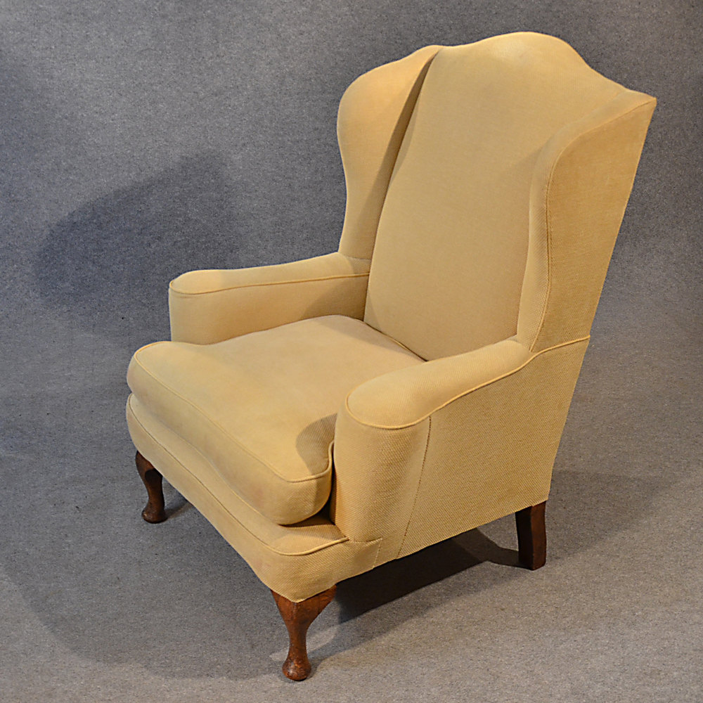 Antique Armchair Wingback Wing Arm Chair Victorian ...