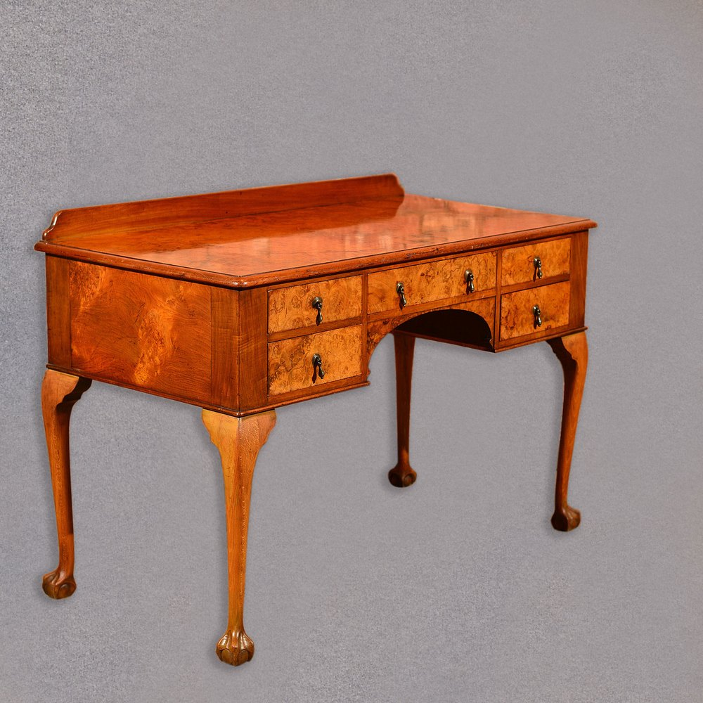 Antique Art Deco Walnut Writing Desk English Antiques Atlas