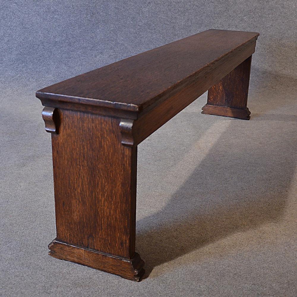 Good Bench Form: Antique Bench 5' Pew Window Seat Form English Oak