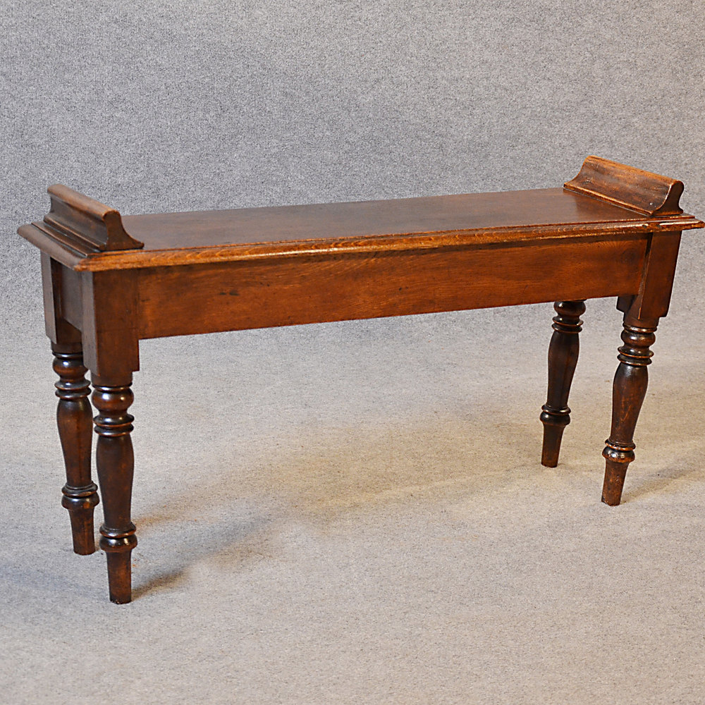 Antique Bench Window Hall Seat Mahogany Long Stool Antiques Atlas