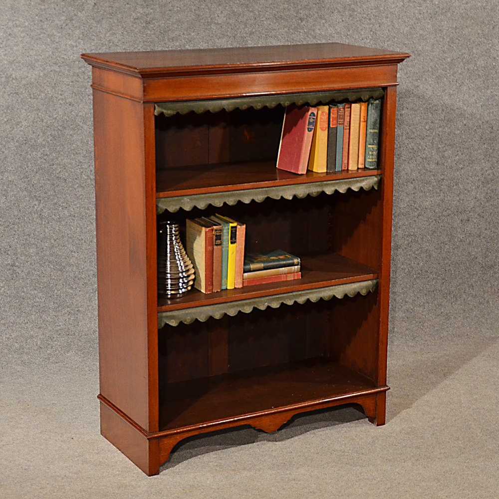 Antique Bookcase Display Library Book Cabinet Engl