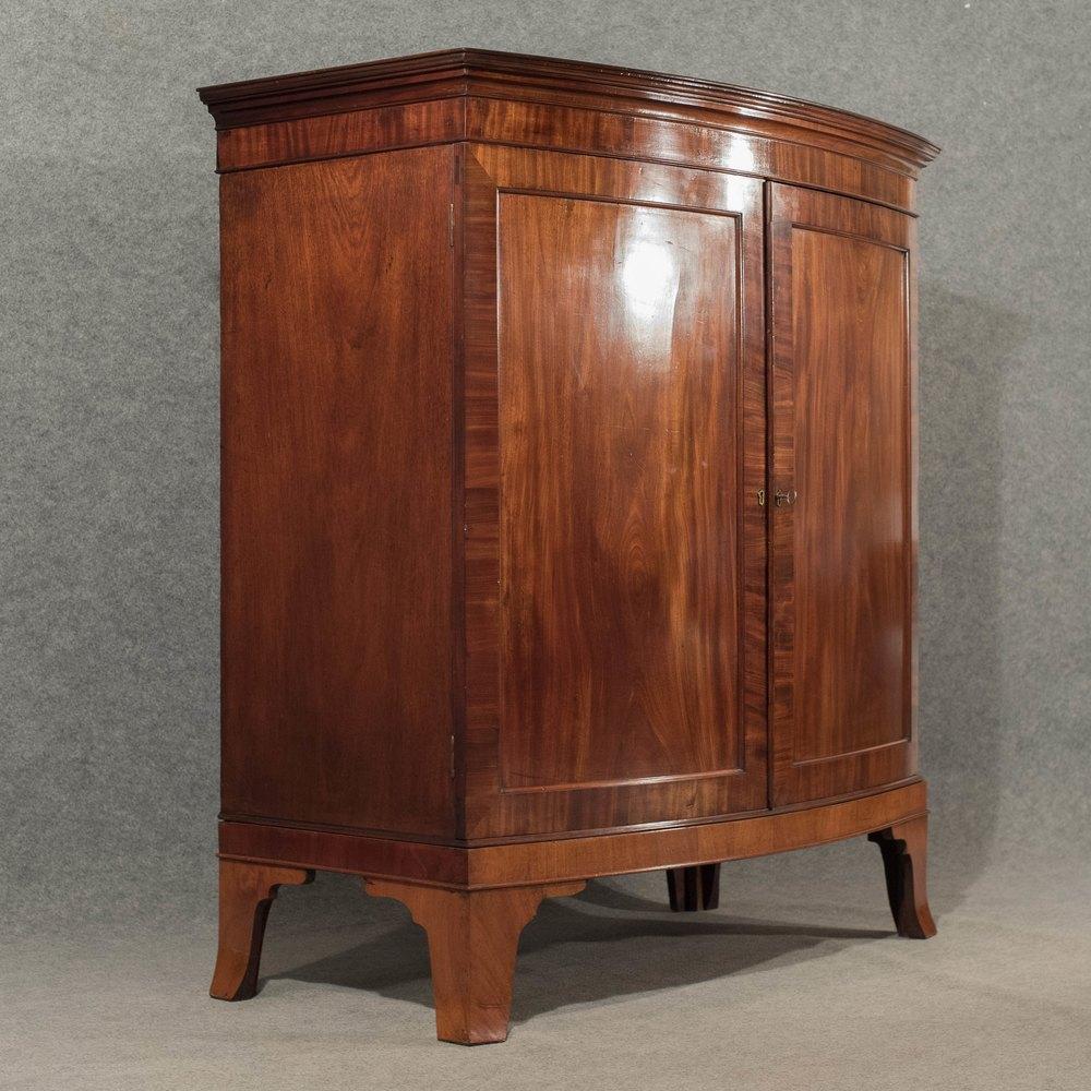 Antique Linen Closet : Antique bow front large cabinet linen press antiques atlas