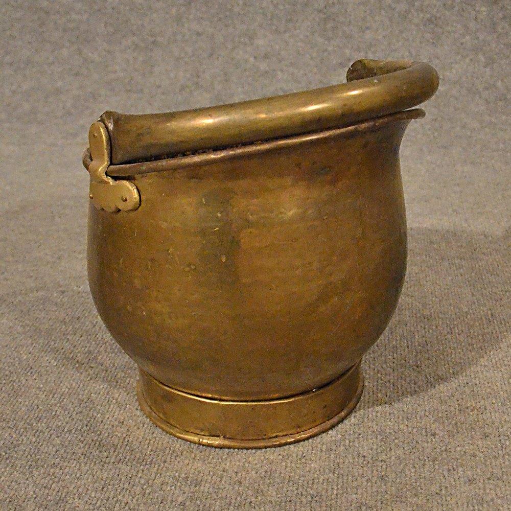 Antiques Atlas - Antique Brass Fire Coal Bucket Fireside ...