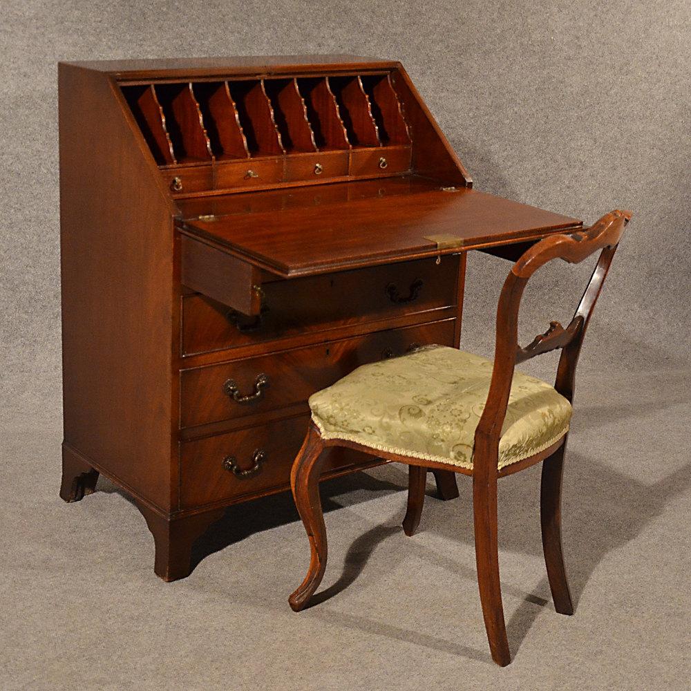 Antique bureau edwardian writing desk quality antiques atlas for Bureau writing desk