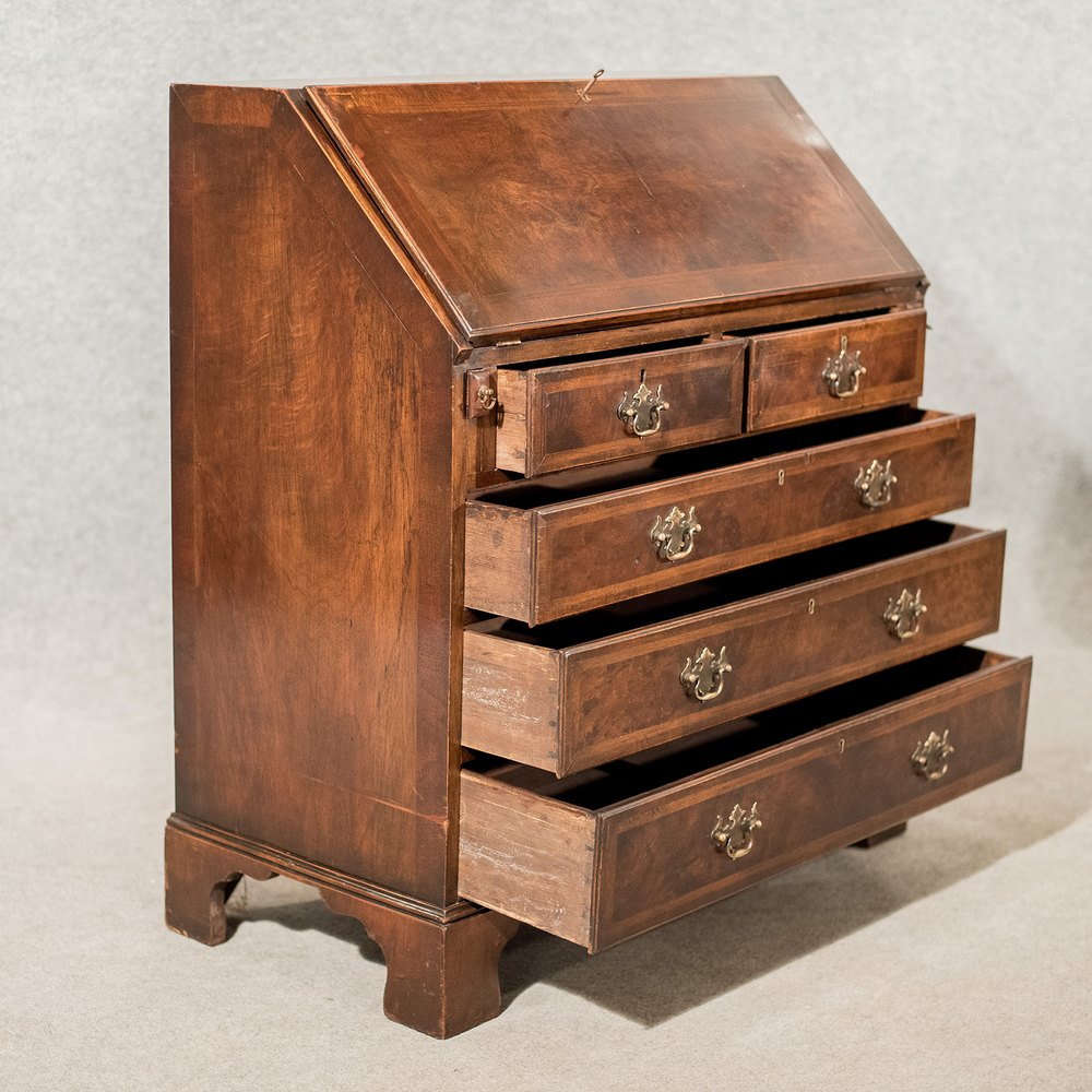 antique bureau writing desk mahogany edwardian antiques atlas. Black Bedroom Furniture Sets. Home Design Ideas