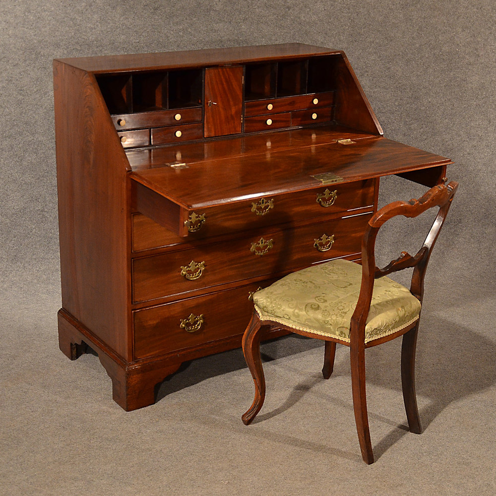 Antique bureau writing study desk fine quality antiques for Bureau antique