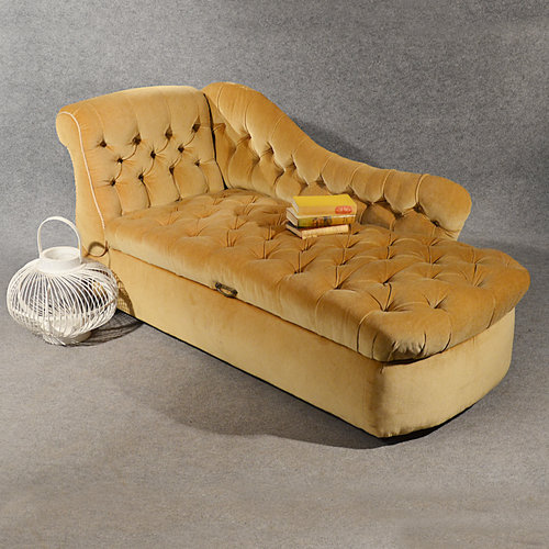 antique chaise longue day bed sofa couch settee antiques