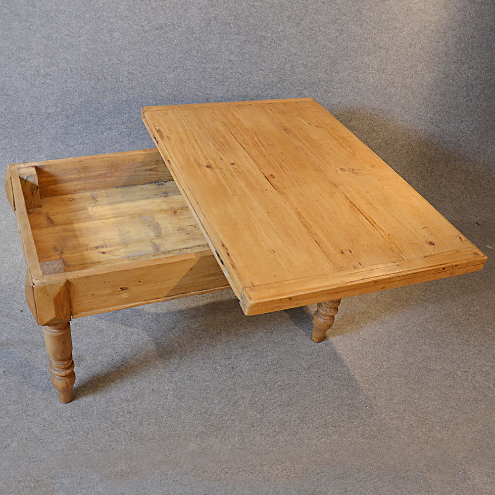 Victorian Pine Coffee Table: Antique Coffee Table Victorian Pine Low Sofa