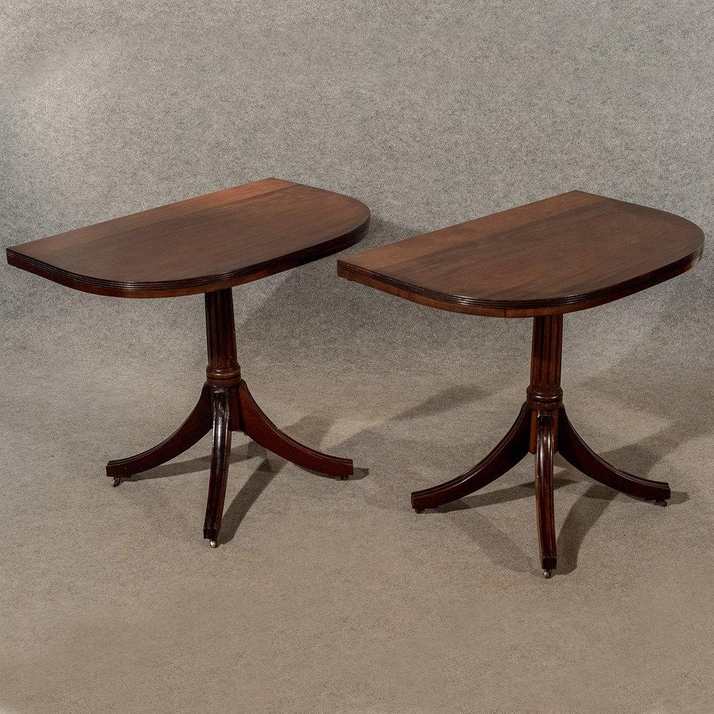 Antique d end extending dining table demi lune antiques atlas - Antiques dining tables ...